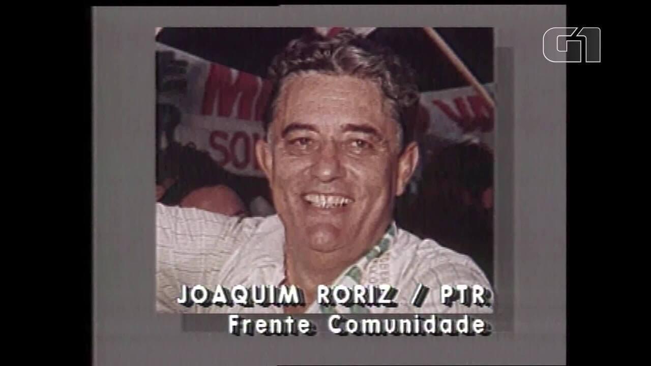 Arquivo: Reportagem da TV Globo mostra posse de Joaquim Roriz em 1991 e conta trajetória do governador