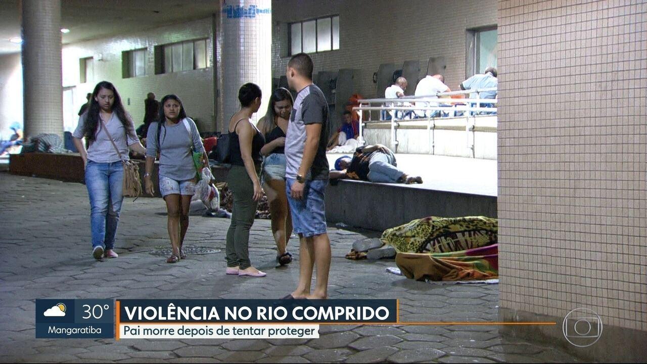 Homem é morto na frente do filho em um bar, no Rio Comprido