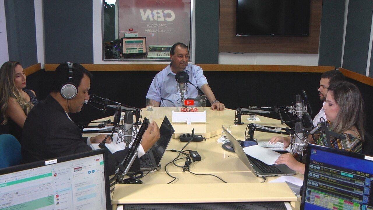 Omar Aziz participa de entrevista na rádio CBN Amazônia