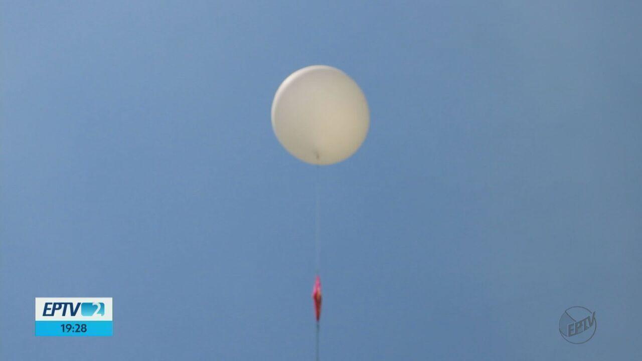 Balão é lançado em São Carlos com experimentos e atinge a estratosfera