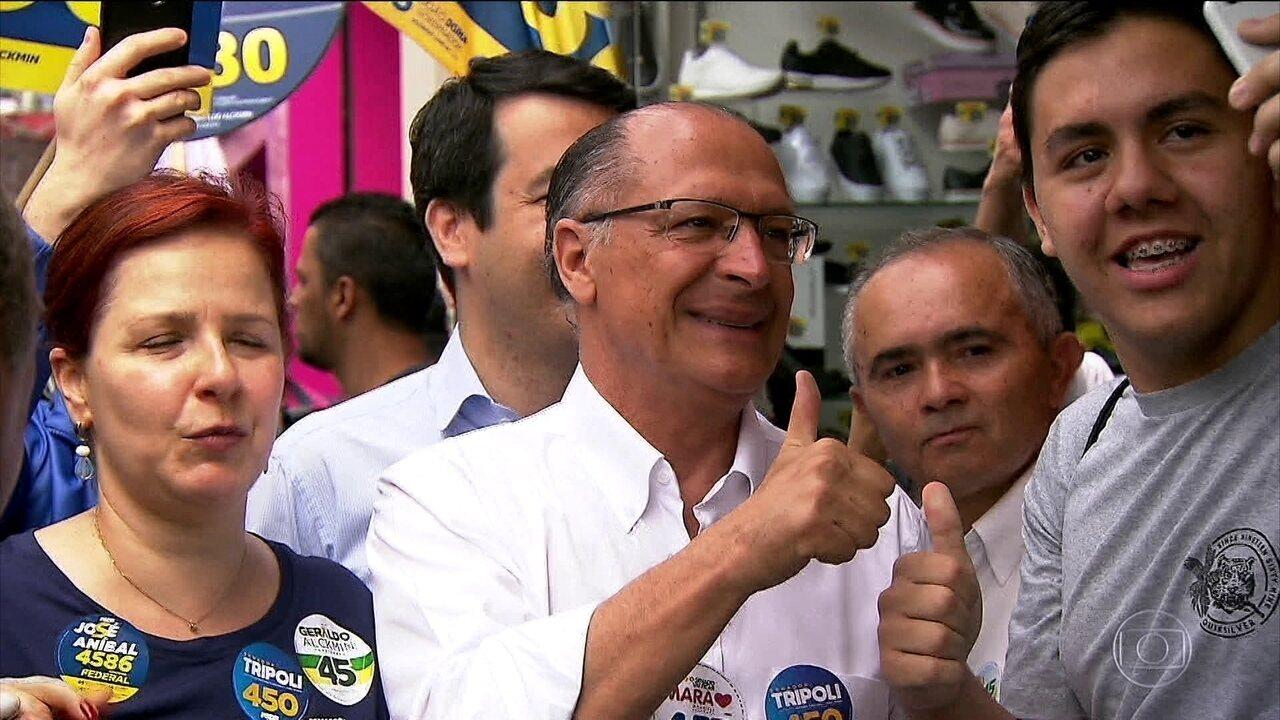 Geraldo Alckmin, do PSDB, fez campanha em São Paulo e Porto Alegre