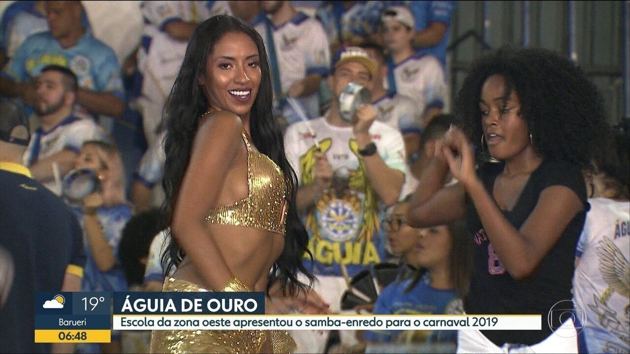 Águia de Ouro apresenta o samba-enredo do Carnaval 2019 em festa na quadra da escola