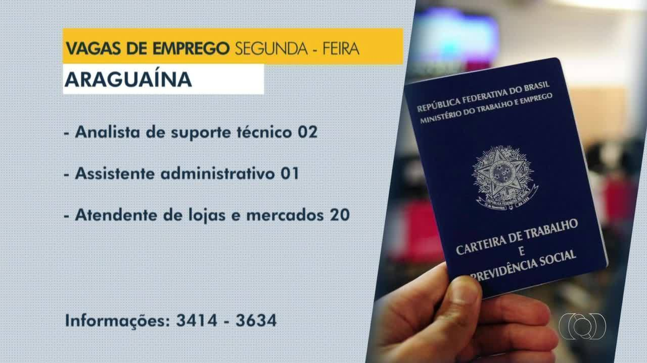 Confira as vagas de emprego disponíveis em Araguaína, Gurupi e Taquaralto
