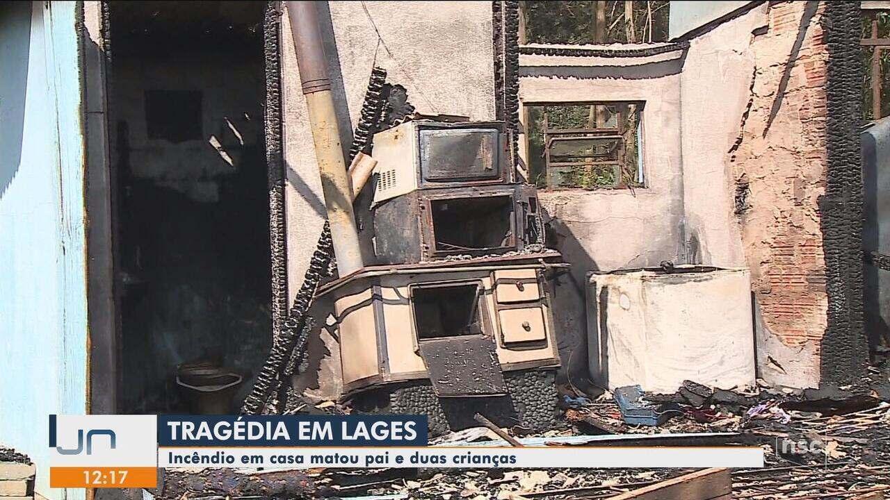 Homem e criança morrem em incêndio dentro de casa em Lages