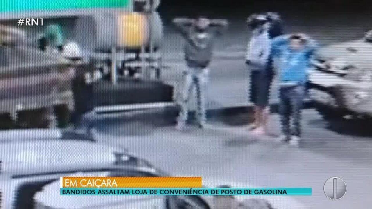 Bandidos assaltam loja de conveniência de posto de gasolina em Caiçara do Rio do Vento, RN