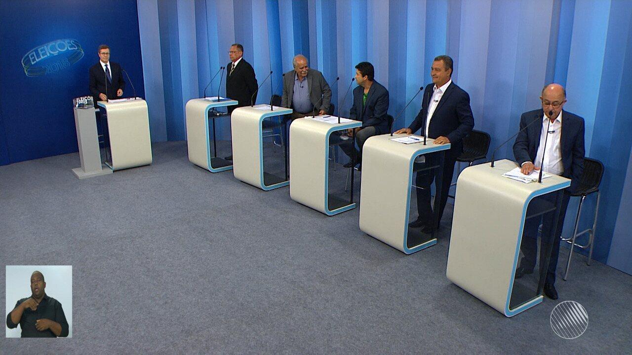 Debate entre os candidatos ao governo da Bahia - bloco 4