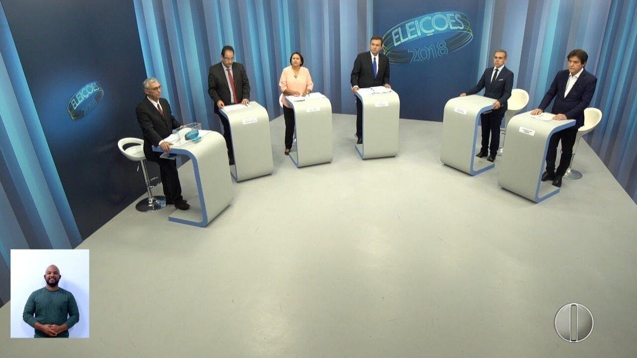 Debate dos candidatos ao governo do RN - Bloco 4