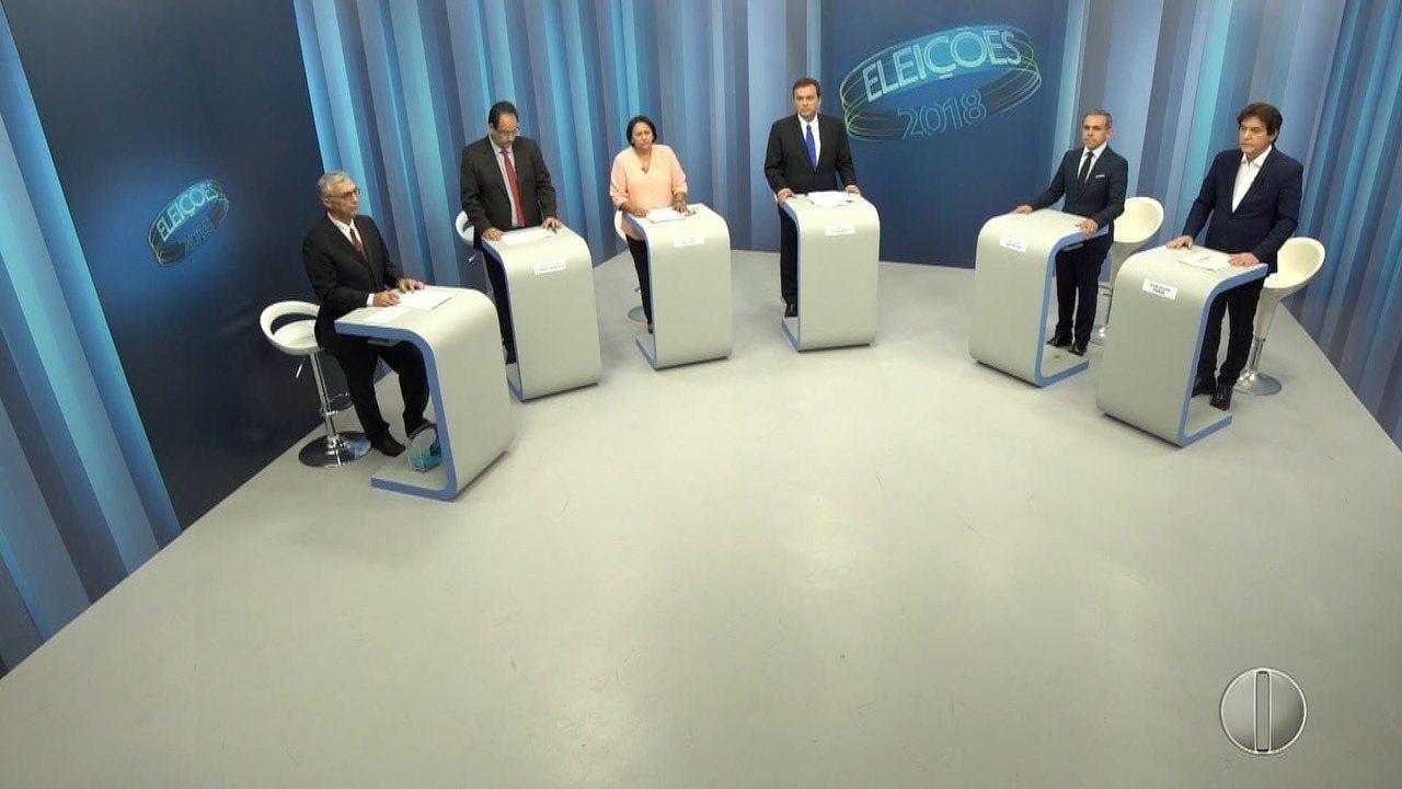 Íntegra do debate com os candidatos ao governo do RN