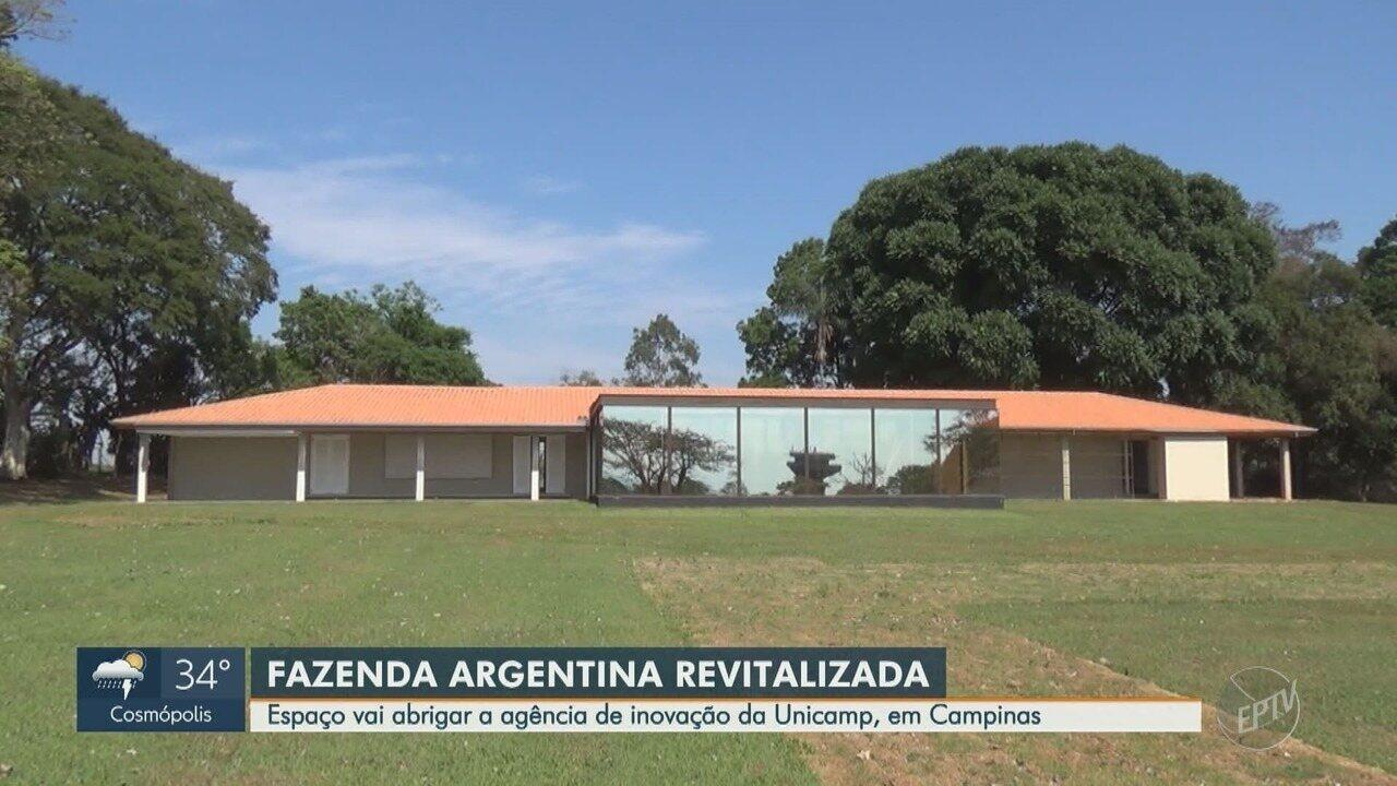 Fazenda Argentina é revitalizada e vai abrigar agência de inovação da Unicamp
