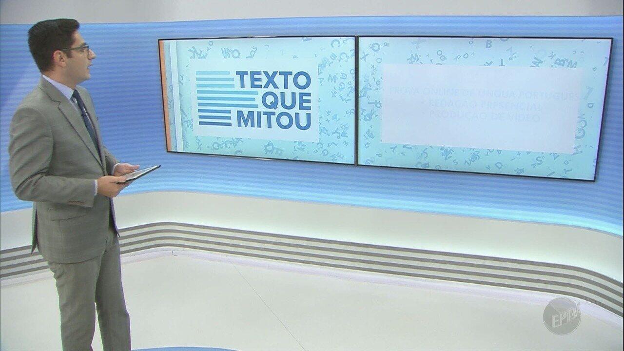 EPTV lança projeto 'Texto que mitou' em comemoração aos 20 anos do Enem