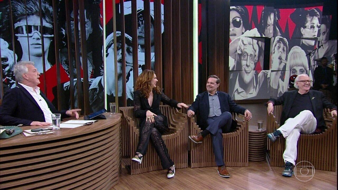 Diogo Vilela, Claudia Raia e Ney Latorraca falam sobre galeria de personagens do TV Pirata