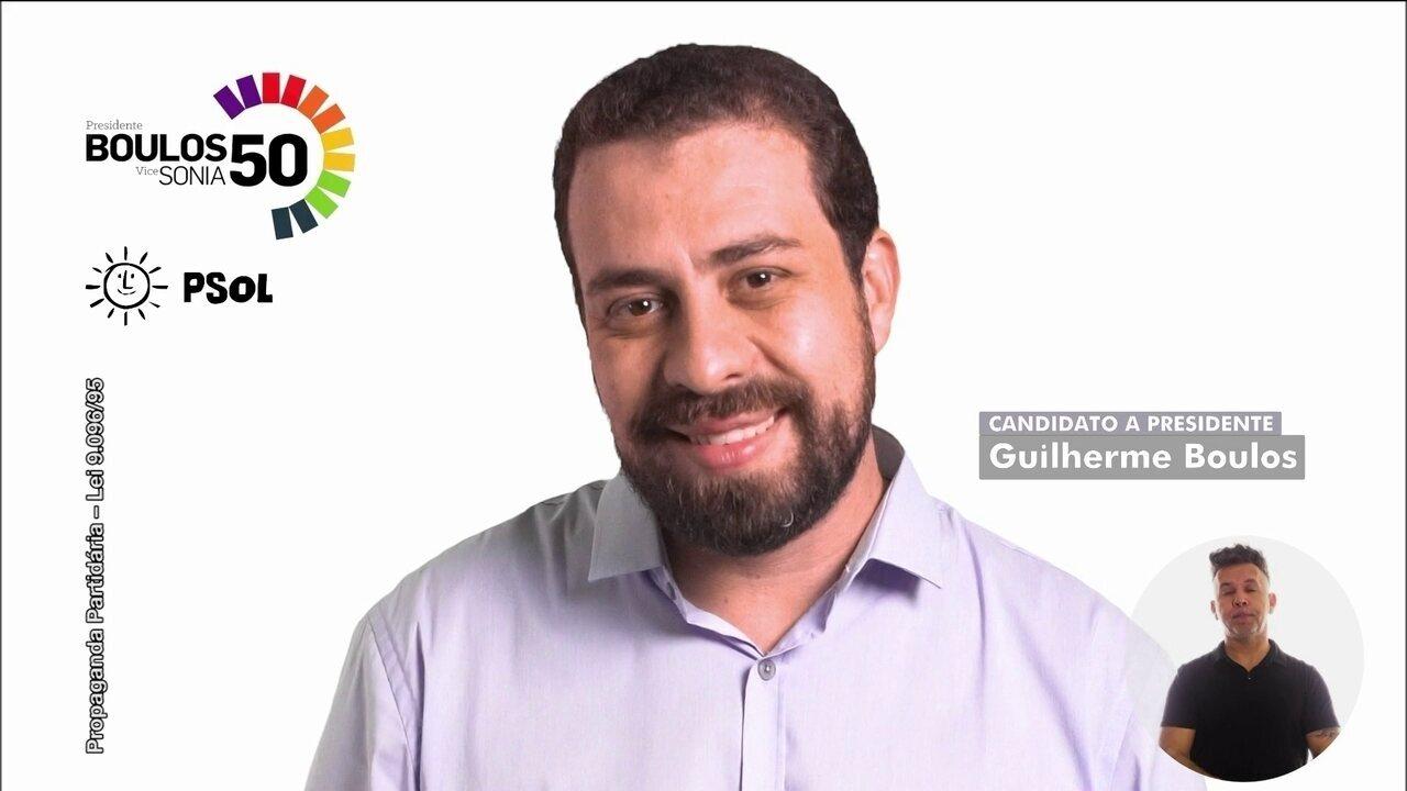 Veja último horário eleitoral do candidato Guilherme Boulos