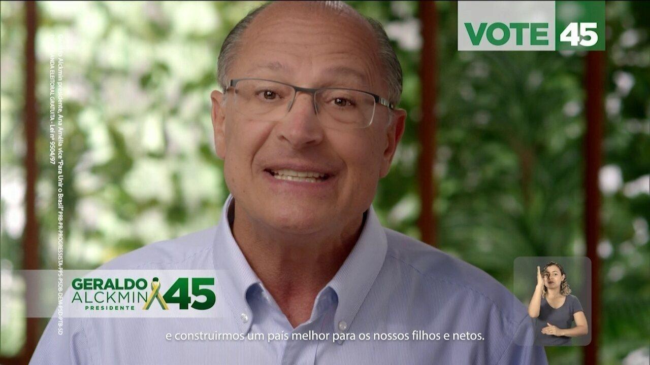 Veja último horário eleitoral do candidato Geraldo Alckmin