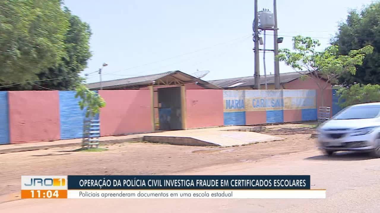 Operação da Polícia Civil investiga fraude em certificados escolares