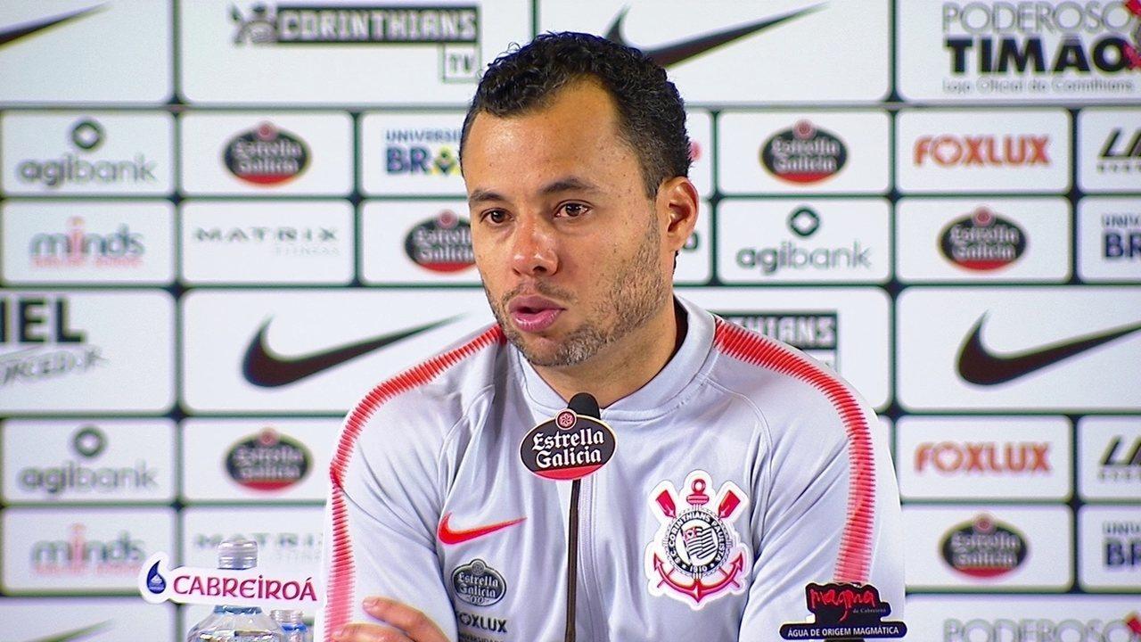 Jair Ventura, do Corinthians, fala em entrevista coletiva após derrota para o Flamengo