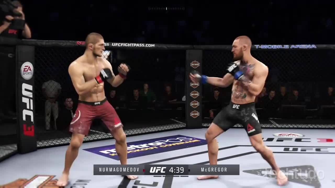 EA Sportv UFC 3 - Simulação da luta entre Khabib X Connor