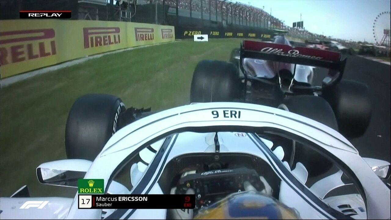 Ericsson bate em Leclerc na relargada do GP do Japão