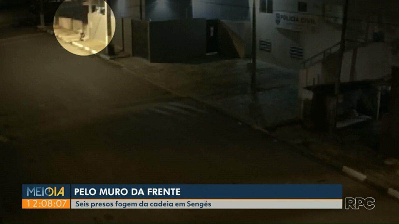 Seis detentos fogem da cadeia pública de Sengés