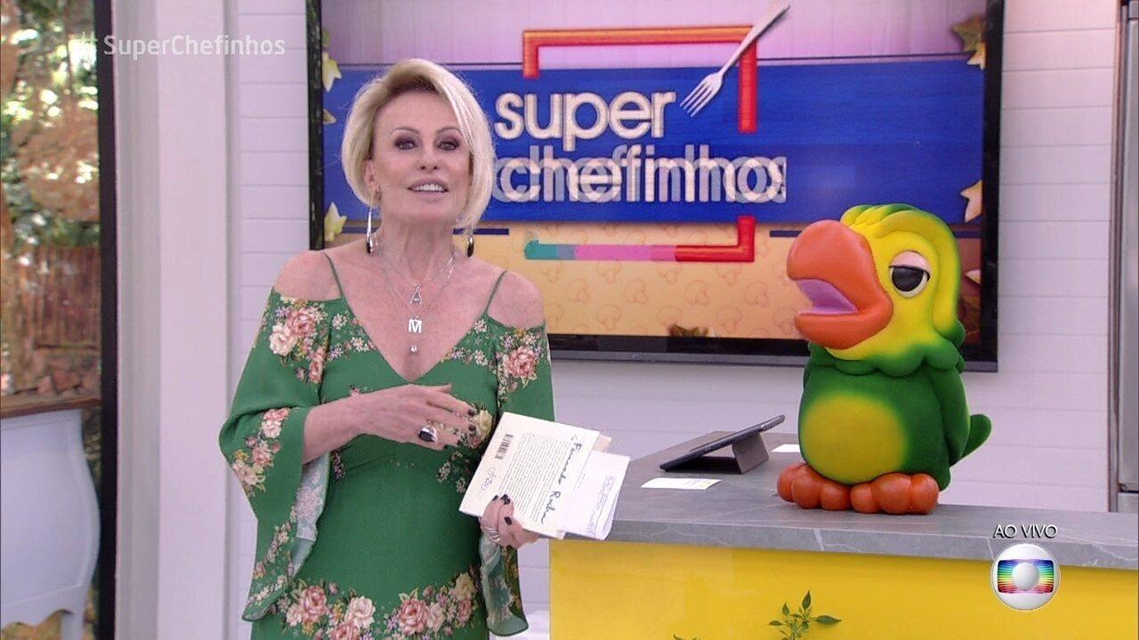 Ana Maria explica como será a reta final do 'Super Chefinhos'