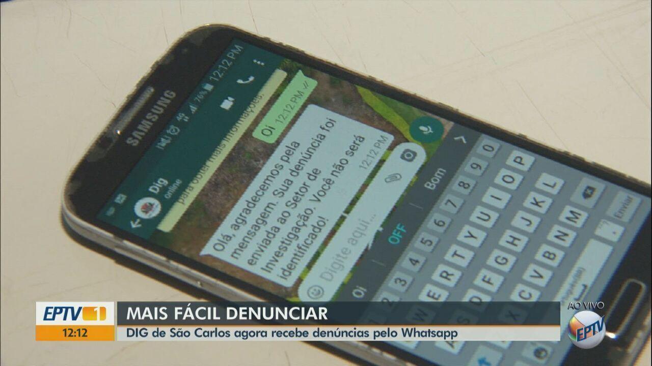 DIG de São Carlos começa a receber denúncias pelo WhatsApp