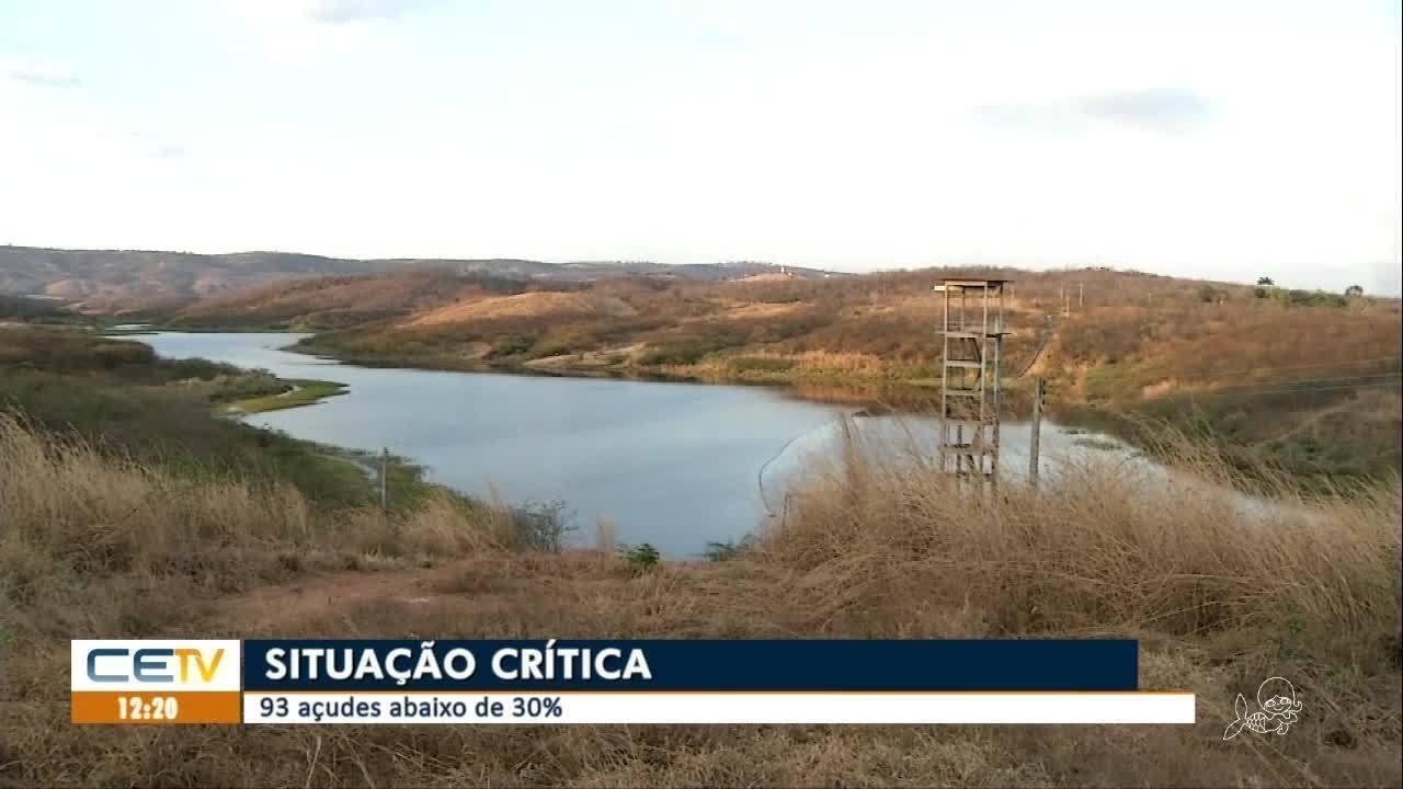 Baixo nível hídrico de açudes e reservatórios do Ceará preocupa especialistas