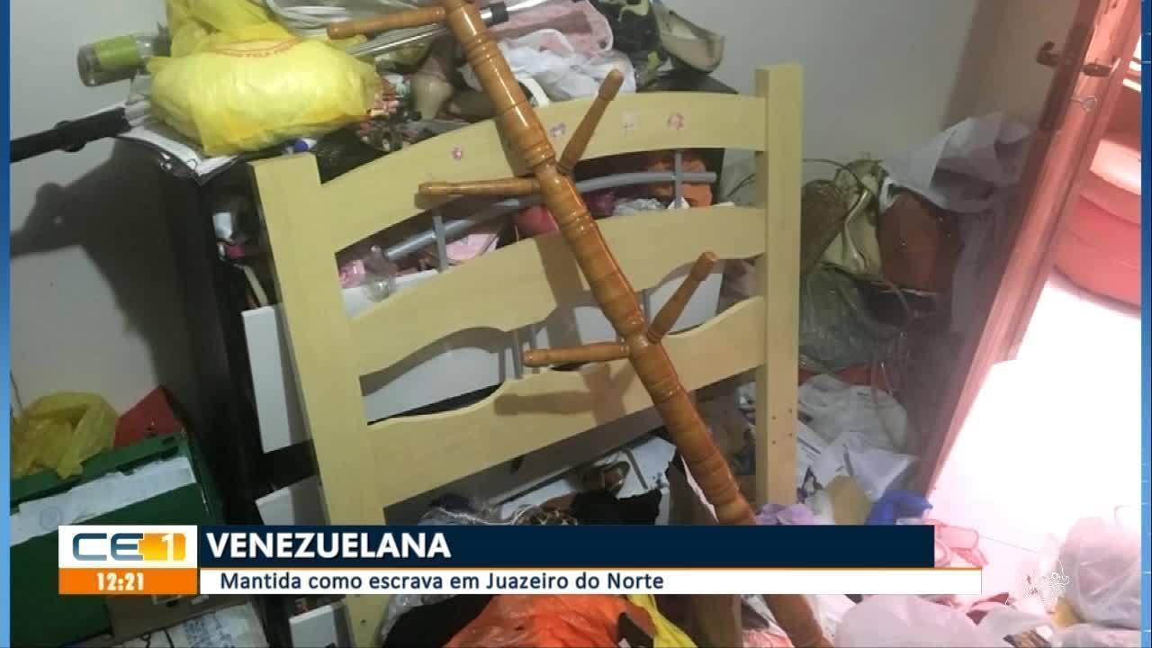 Suspeita de manter venezuelana como escrava é presa em Juazeiro do Norte