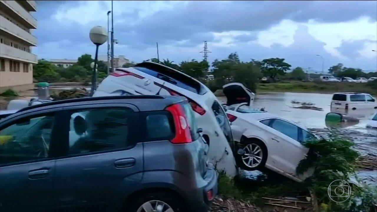 Tempestade mata 9 pessoas em Maiorca, na Espanha