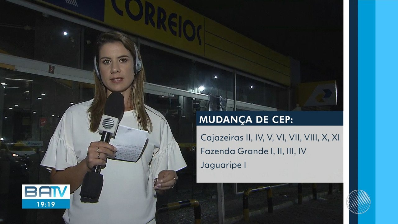 Correios alteram CEP de 16 bairros da capital baiana; veja os locais afetados