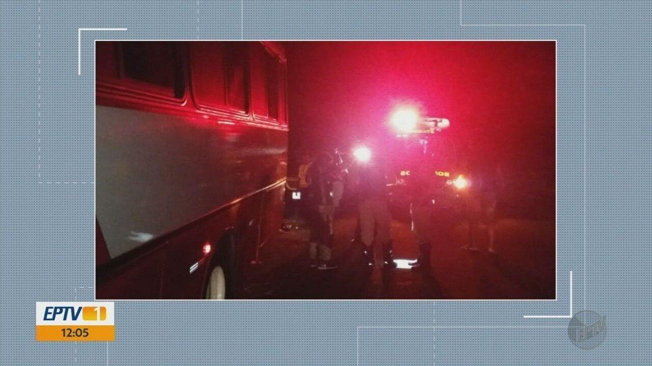 Ciclista é atropelada por ônibus em rodovia de Três Corações (MG)