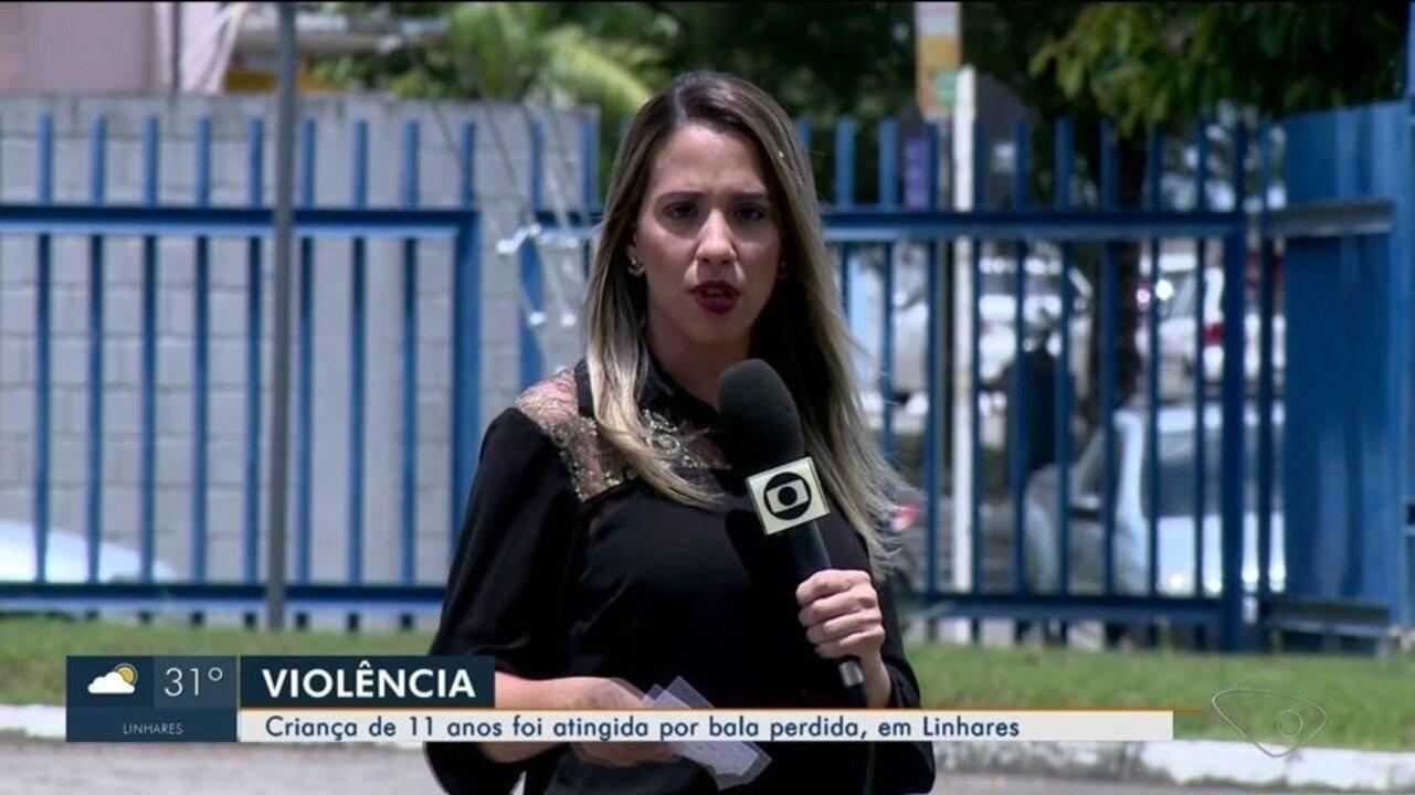Criança de 11 anos é vítima de bala perdida em Linhares, no ES