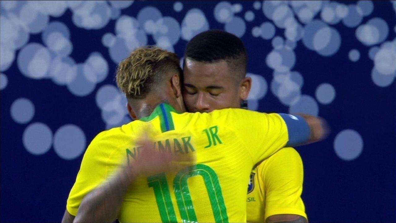 Os gols de Brasil 2 x 0 Arábia Saudita em amistoso da Seleção Brasileira