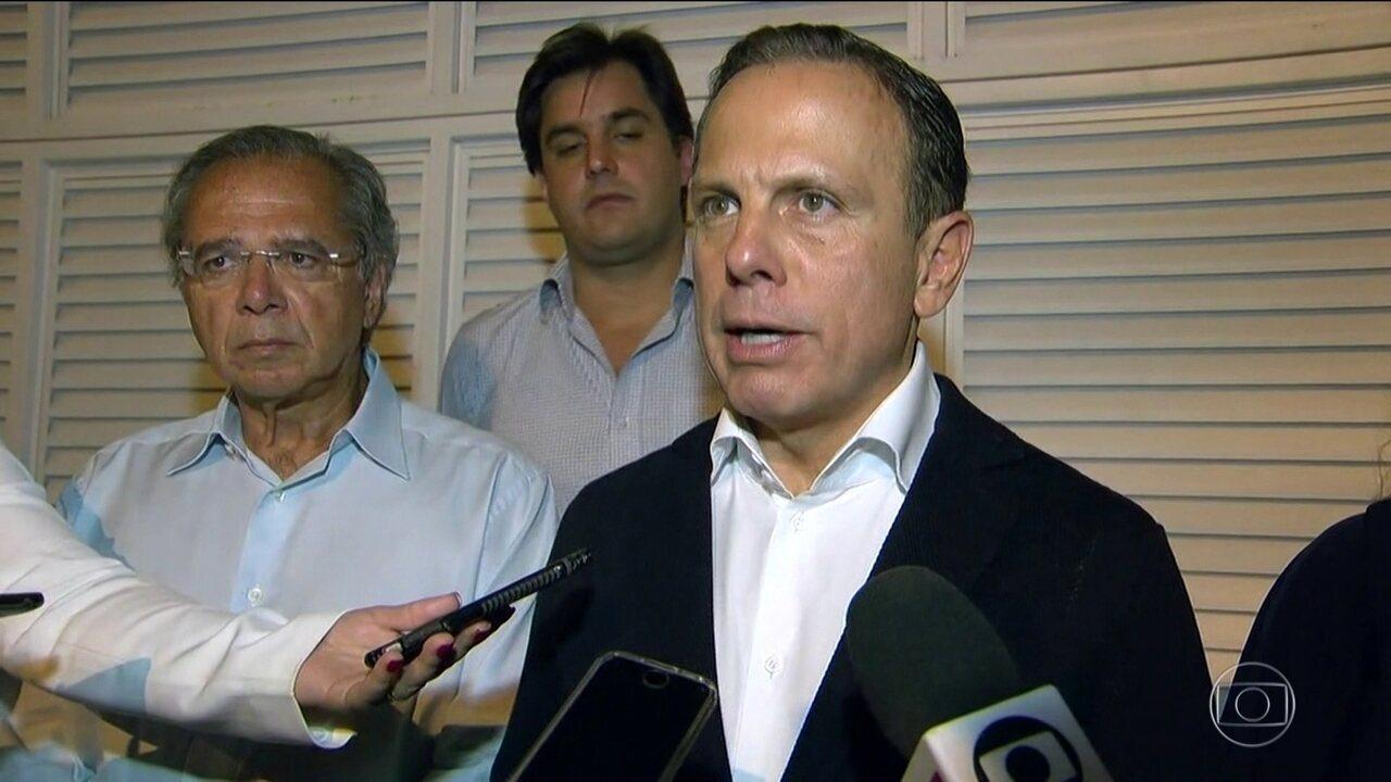"""Resultado de imagem para Bolsonaro: """"Desejo boa sorte ao Doria"""""""