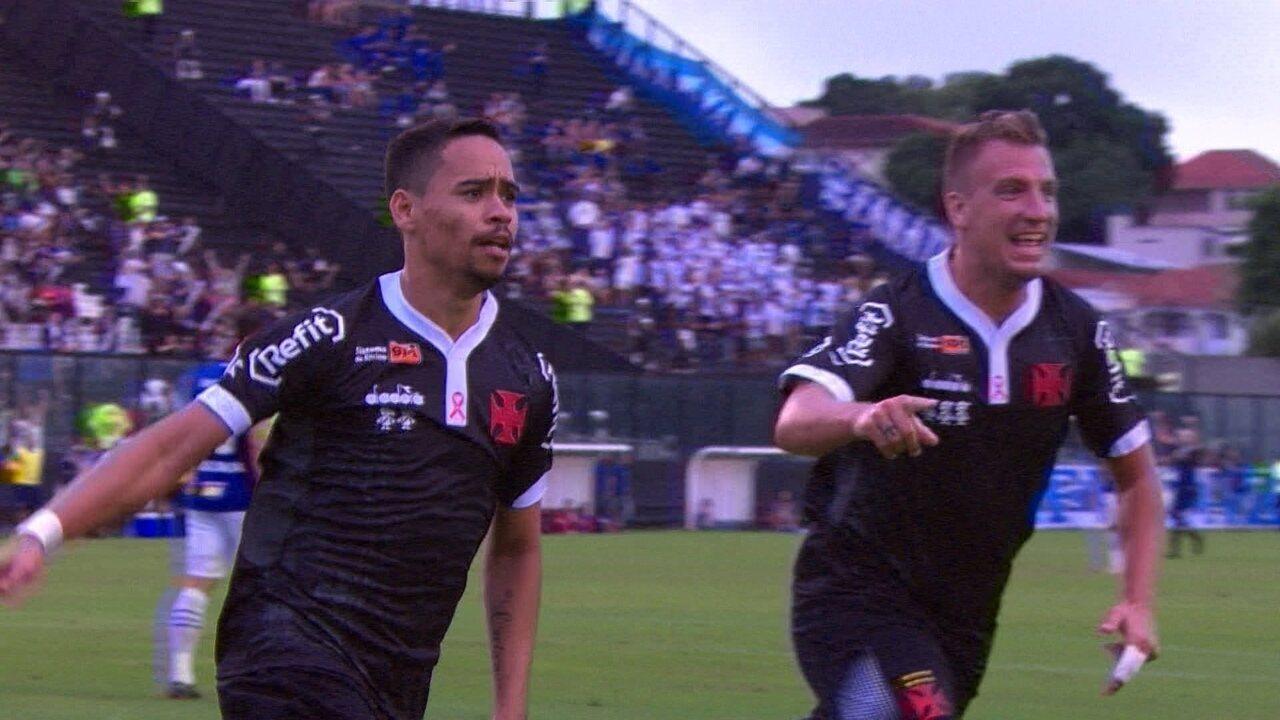 Os gols de Vasco 2 x 0 Cruzeiro pela 29ª rodada do Brasileirão