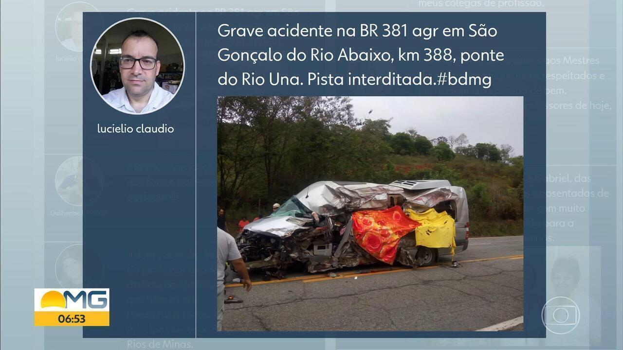 Acidente deixa mortos e feridos em São Gonçalo do Rio Abaixo