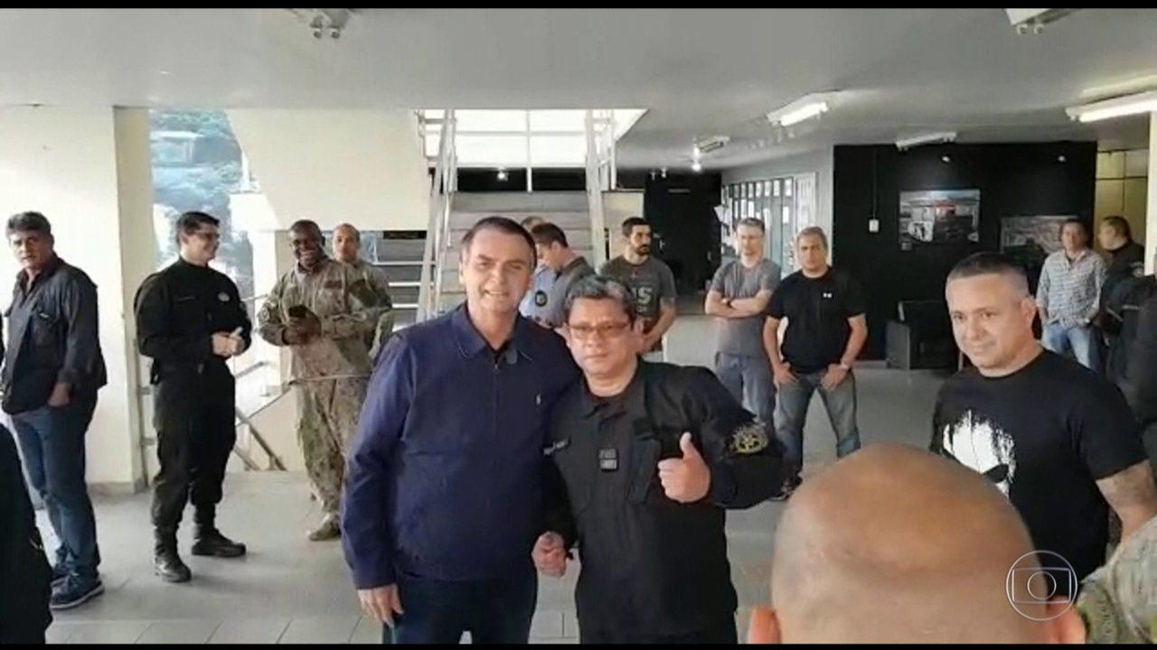 Candidato do PSL, Jair Bolsonaro, visita o Bope do Rio de Janeiro
