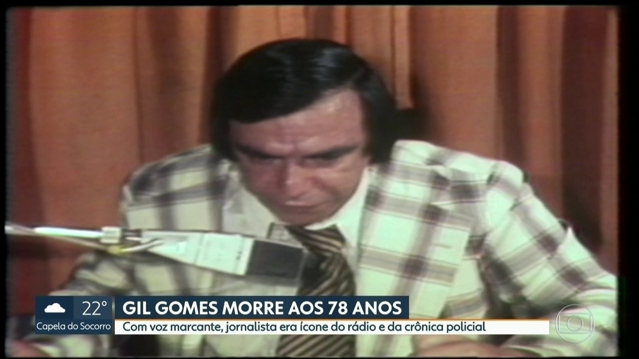 Jornalista Gil Gomes morre aos 78 anos