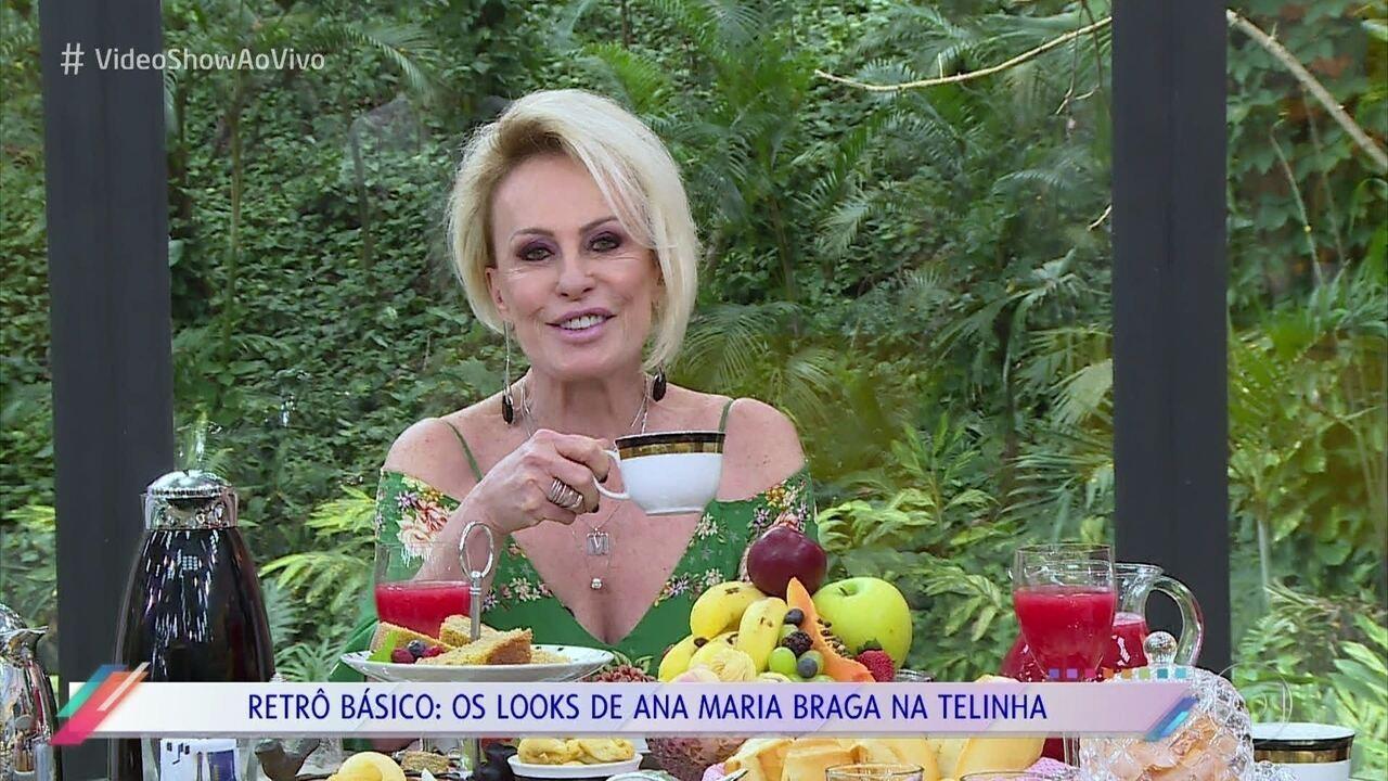 Ana Maria Braga relembra os looks usados ao longo de sua carreira