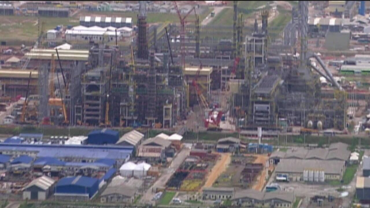 Mapa da energia: obras do Comperj serão retomadas no 2º semestre de 2019