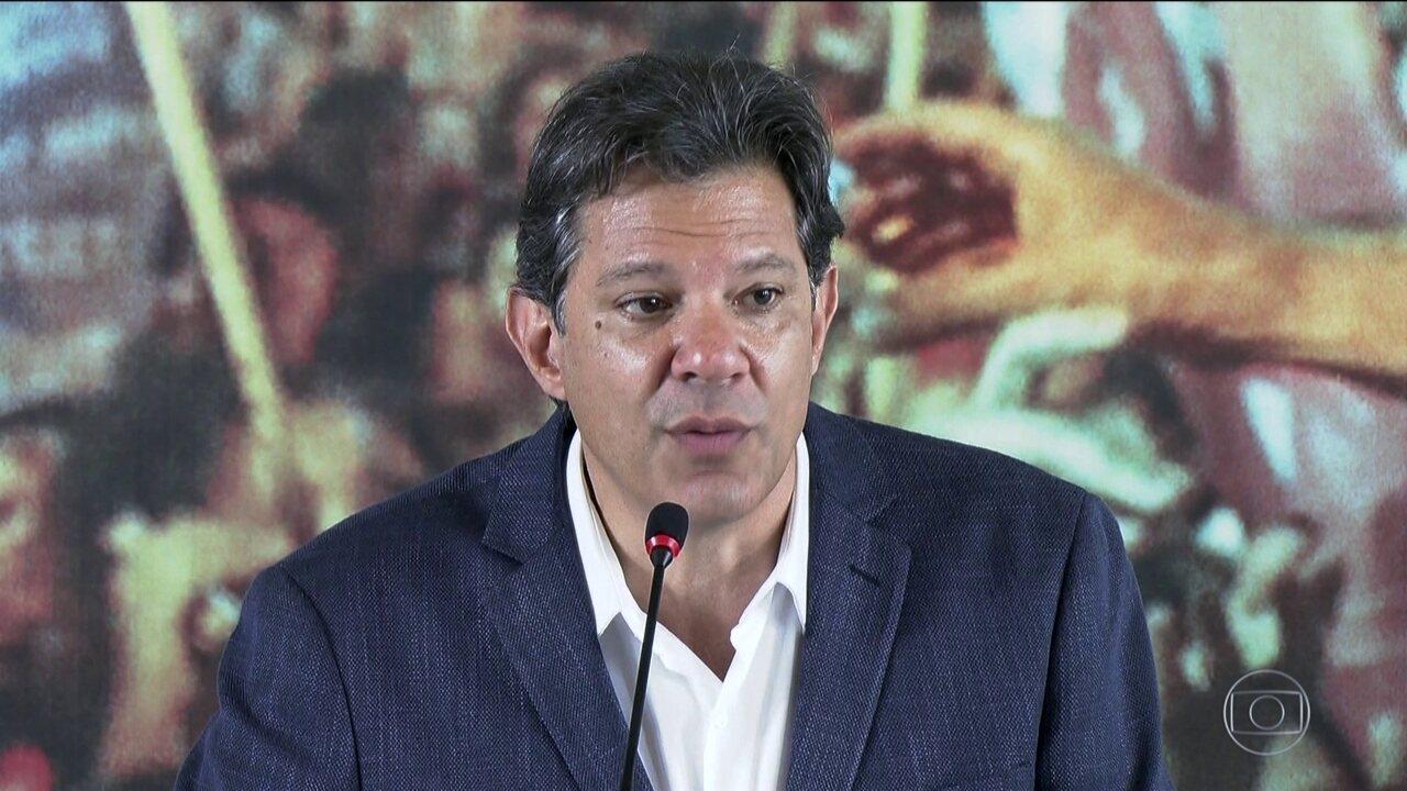 Candidato do PT, Fernando Haddad, se encontra com representantes de igrejas evangélicas