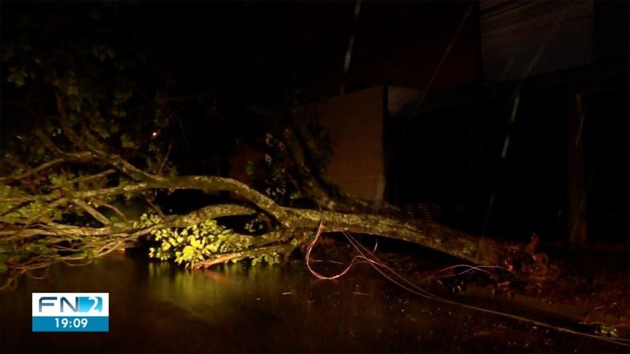 Vento e chuva causam prejuízos para moradores do Oeste Paulista