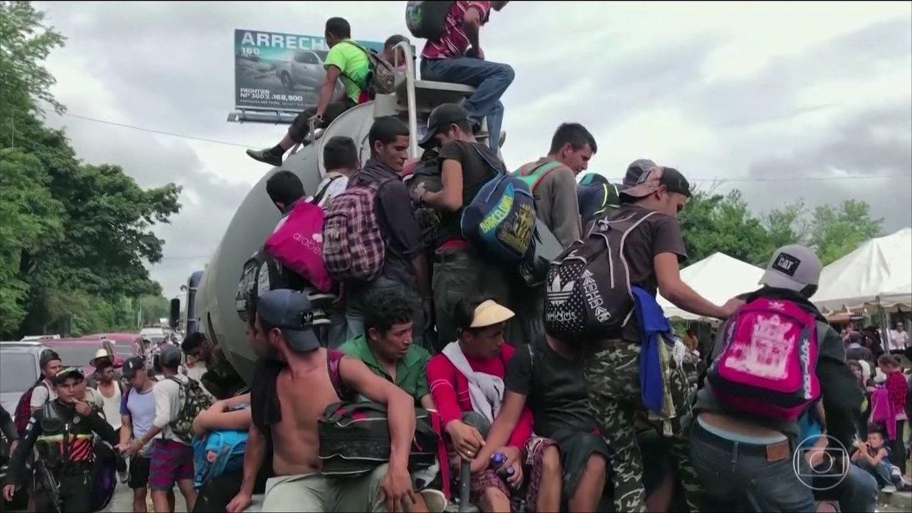 Trump ameaça enviar exército americano para a fronteira com o México