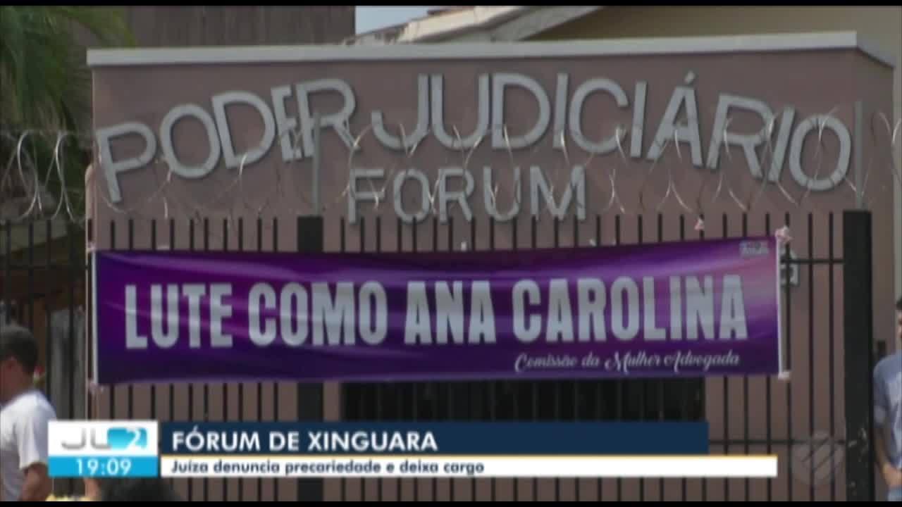 7101002 - Advogados protestam em apoio à juíza que denunciou precariedade no Fórum de Xinguara no Pará