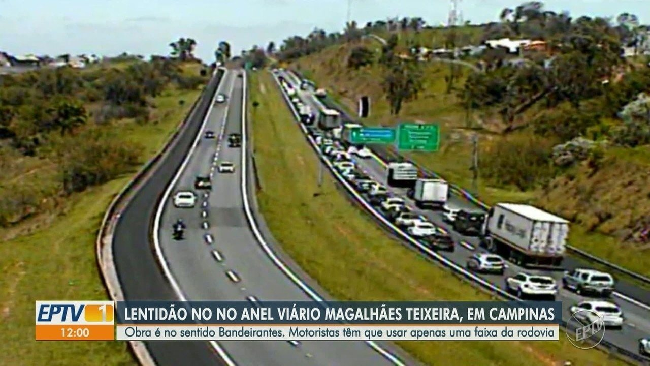 Obra de pavimentação no Anel Viário afeta trânsito entre Campinas e Valinhos c21f80362f7