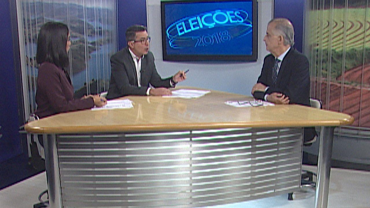Márcio França, candidato ao governo de São Paulo no 2º turno, é entrevistado pelo Diário TV