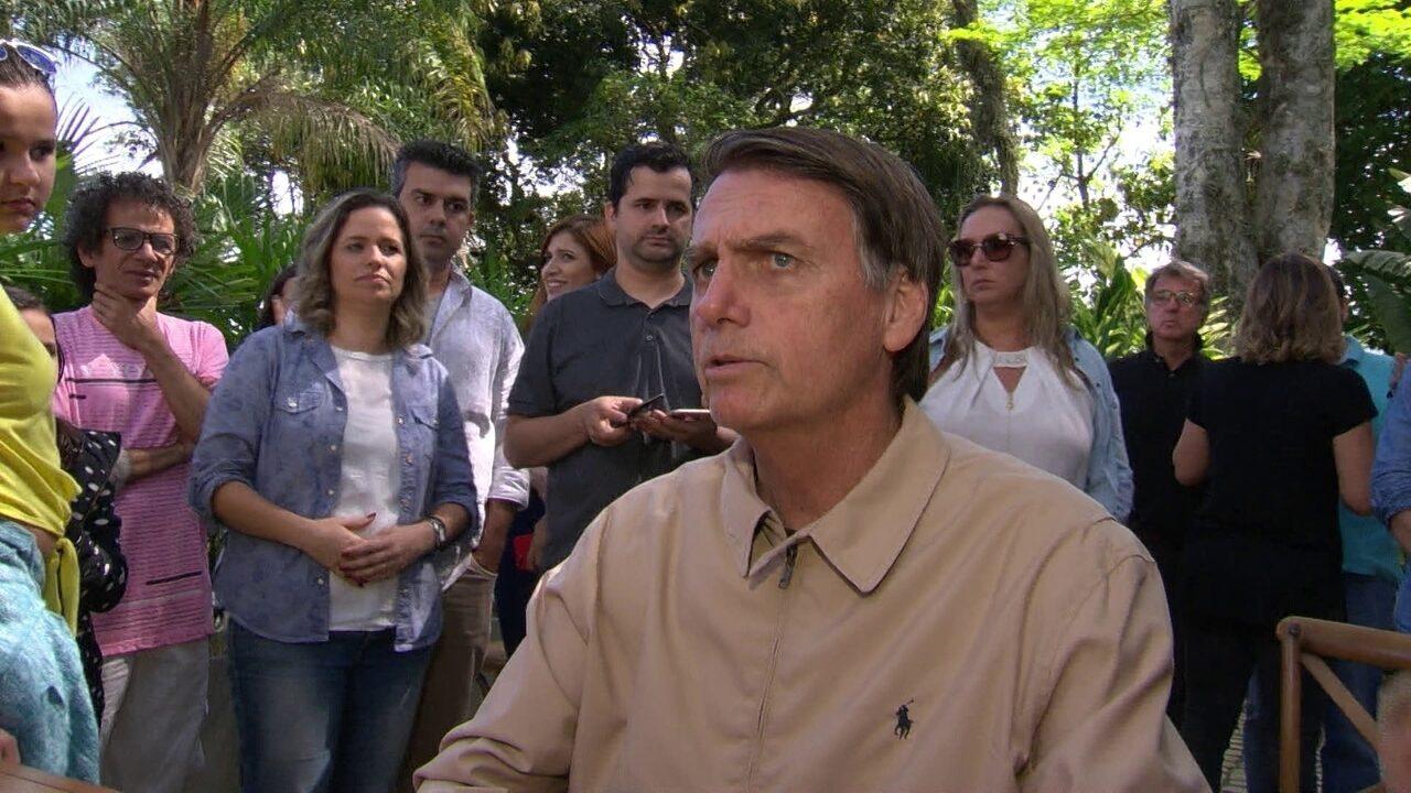 Jair Bolsonaro, candidato do PSL à Presidência, faz campanha no Rio de Janeiro