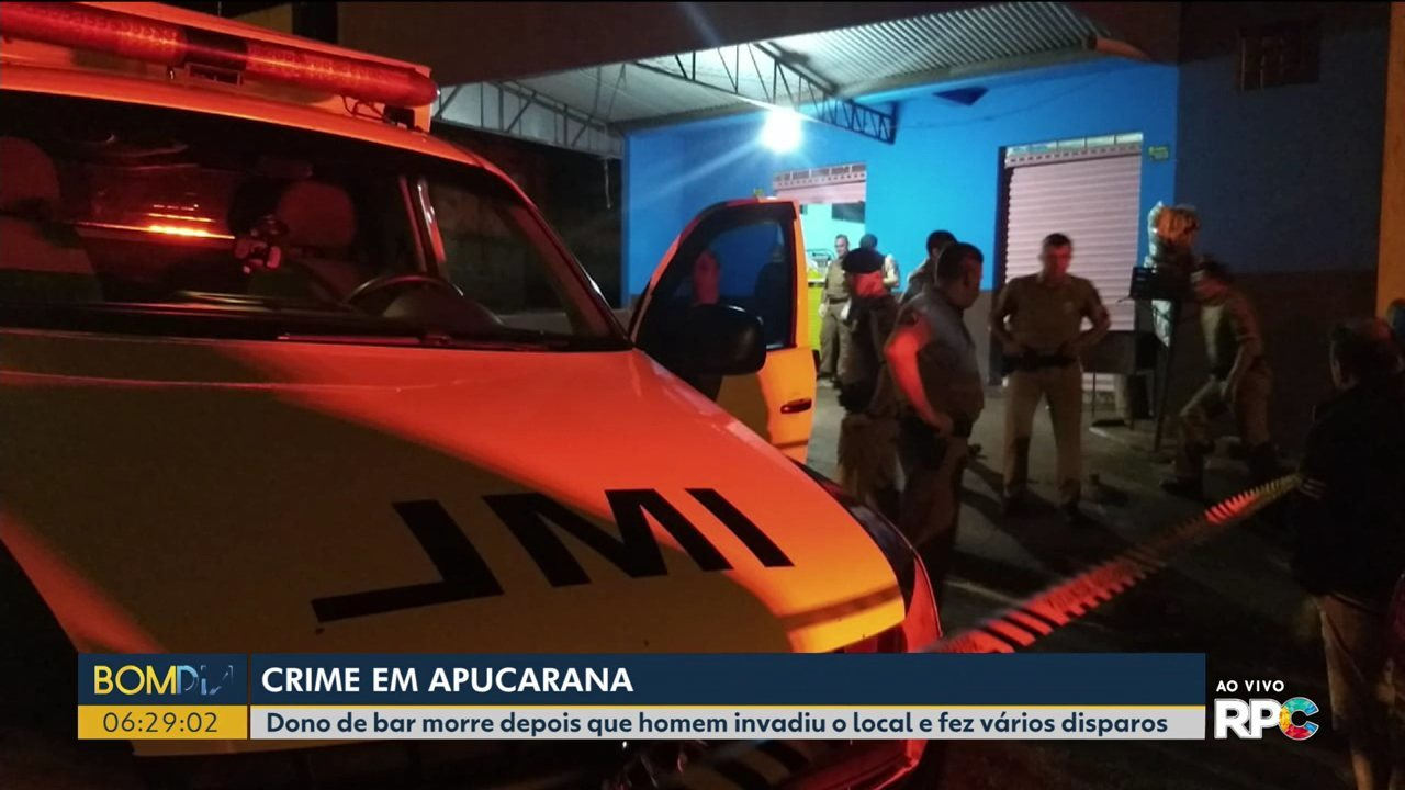Dono de bar é assassinado em Apucarana