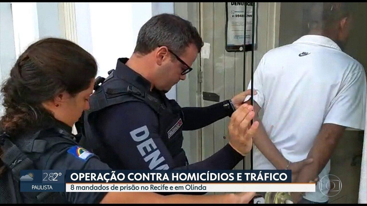 Operação da Polícia Civil prende envolvidos em tráfico de drogas no Grande Recife
