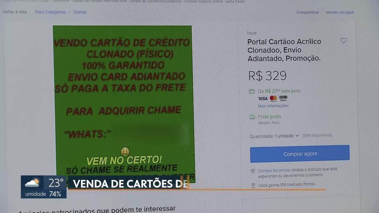 Criminosos negociam a venda de cartão de crédito de terceiros pela internet