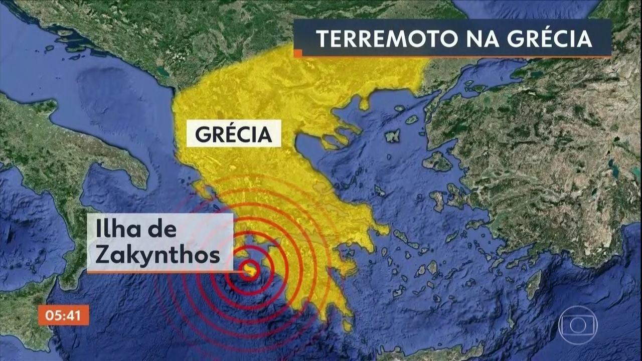 Terremoto atinge a Grécia nesta sexta-feira (26)