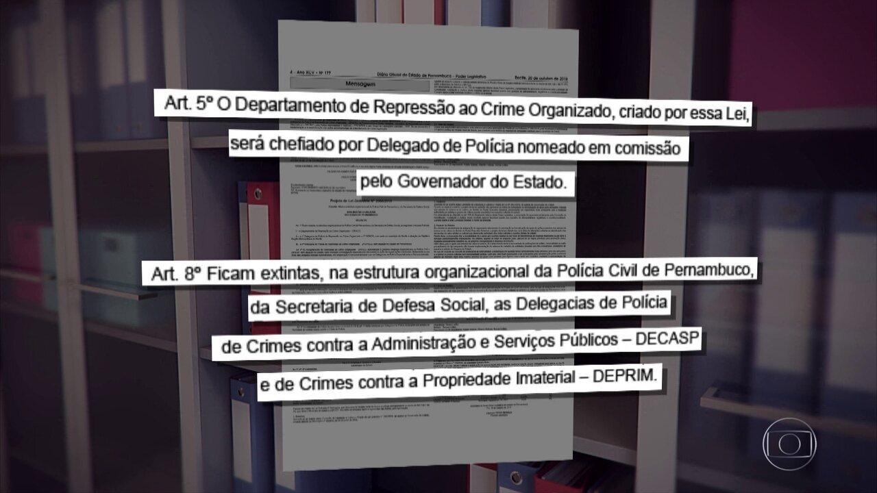 Projeto de Lei quer extinguir delegacias de combate à corrupção e à pirataria